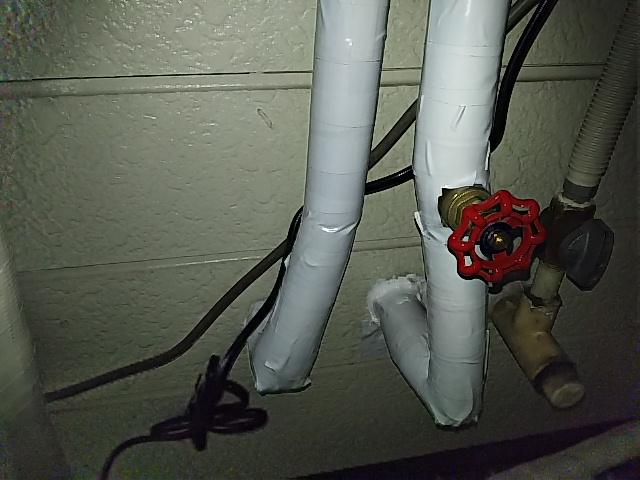 凍結対策保温材取付